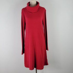 PHILOSOPHY ribbed cowl neck knit mini dres…